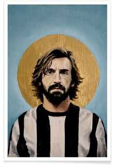 Football Icon - Pirlo 2014 - David Diehl - Affiche premium