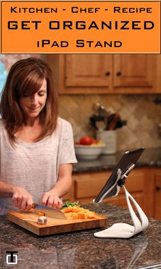 Organize your kitchen while cooking those great chef recipes from your iPad stand. The Stabile PRO is an elite premium pivoting iPad Stand made in the USA from solid steel, and comes in many select color finishes.
