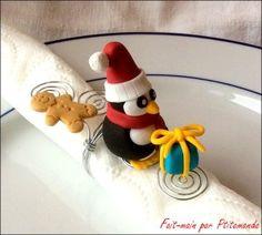 Rond de serviette de Noël en Fimo