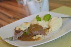 Hovädzie dusené so zeleninovým krémom & zemiakovou kašou s batátmi