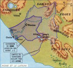 Le récit de la longue histoire de Rome. 1ère partie: de la fondation au début de l'Empire.