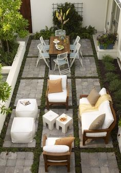 dif pavers love this courtyard with lovely outdoor room feel the boxed players and pretty moss and landscaping perfect for adjacent to pool