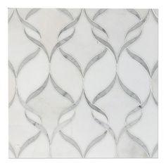 White Thassos and Bianco Carrara Marble Waterjet Mosaic Tile in Arabesque Marrakech Marble Mosaic, Mosaic Wall, Mosaic Tiles, Wall Tiles, Marble Floor, Marble Art, Carrara Marble Bathroom, Yacht Design, 3d Art