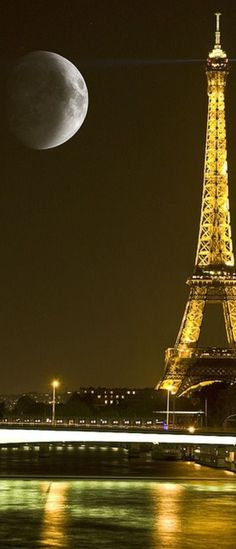 Paris, super moon. I know its cliche and that everyone says they want to go to Paris but I really want to go!