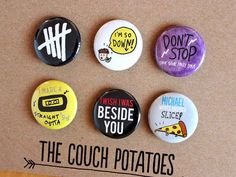 Six Pack of Buttons | 25 Things Every 5 Seconds Of Summer Fan Needs Before Going Back To School