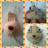 """Patron Ruble """"Patrulla Canina"""" Animals And Pets, Funny Animals, Funny Pets, Finger Puppets, Paw Patrol, Crochet Earrings, Crochet Patterns, Crochet Hats, Beige"""