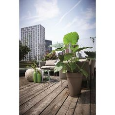 Elho Loft Urban Round High Bloempot 42 cm