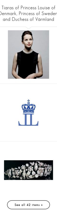 """""""Tiaras of Princess Louise of Denmark, Princess of Sweden, and Duchess of Värmland"""" by louiseingrid-ofdenmark ❤ liked on Polyvore featuring accessories, hair accessories, tiara, diamond hair accessories, crown hair accessories, diamond tiara, tiara crown, crown tiara, jewelry and yellow diamond jewelry"""