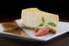 We love Al's #Cheesecake with strawberry and #chocolate at Off the Strip Bistro at the LINQ in #Vegas.