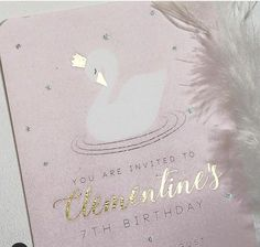Invitation | Swan Party by Little Big Company