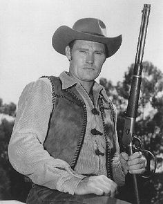 CHUCK CONNORS THE RIFLEMAN B&W 8X10 PHOTO