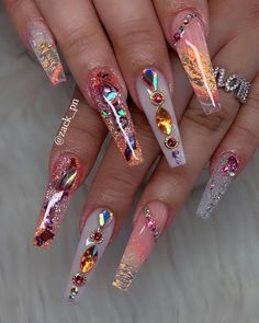 nails nails art nails ideas nails designs # coffin nails are bold and stylish of coffin nails nails show your manicure # best coffin nail idea and magnify your existing nail polish ideas. Cute Acrylic Nail Designs, Best Acrylic Nails, Summer Acrylic Nails, Acrylic Nail Art, Nail Designs Bling, Pastel Nails, Glam Nails, Dope Nails, Bling Nails