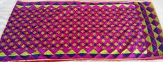 Rs. 1050/- Hand embroidered phulkari bagh stole available on www.facebook.com/palakscreations