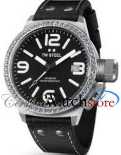 TW Steel TW37 Watch Canteen Mens - Black Dial Stainless Steel Case Automatic Movement