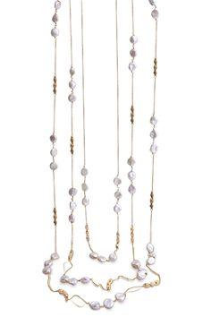 Yvel keshi #pearl station necklace @yveldesigns