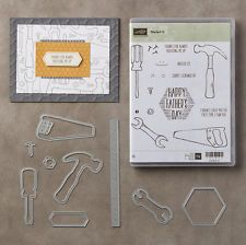 STAMPIN' UP! NAILED IT CLEAR MOUNT STAMPS, BUILD IT FRAMELITS DIES BUNDLE, NEW