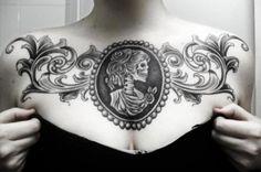 chest tattoo | Tumblr