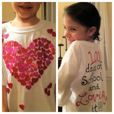 100 days of school shirt ideas | 100th Day of School | Elizabeth Lauren gotta do for chanel's class project :)
