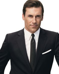 Jon Hamm. He brought sexiness to the suit again. I always portrayed it as stuck-up or proper, but he adds a swagger to it that can't be masked.