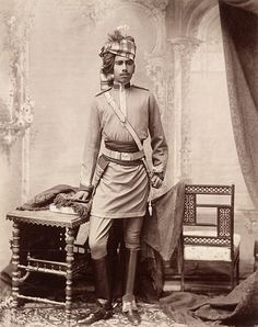 Maharaja Ganga Singh (1887-1943) of Bikaner in Rajasthan, from the Elgin Collection, during the Viceroy Lord Elgin's 'Autumn Tour 1896'. He was known for his enlightened views on modernisation. He started an extensive building program in the city including the Lalgarh Palace and the Ganga Niwas. He was founder of the Bikaner Camel Corps, now part of the Indian Army's Border Security Force, which served in China, Somaliland, Egypt and the Middle East as part of the British Army in India.