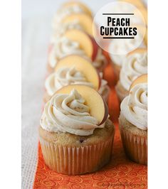 Peach Cupcakes -These peach cupcakes are packed with peach flavor from peach jam and fresh peaches. Then they are topped with a peach buttercream.| www.tasteandtellblog.com