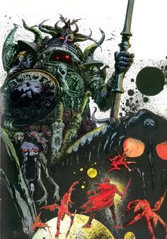 Yeah, the French can do the comic book thing, too. Philippe Druillet     metal hurlant | Tumblr