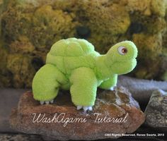 Baby Washcloth Turtle Sea Turtle WashAgami ™ Washcloth