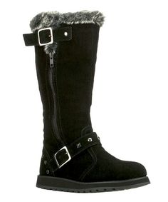 Take a look at this Black Suede Easy Peasy Keepsakes Boot by Skechers on #zulily today!