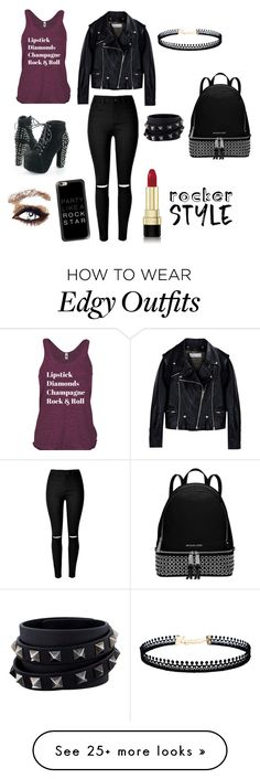 """Rock"" by hugme-dylan on Polyvore featuring Golden Goose, Valentino, LULUS, Michael Kors, Casetify, Dolce&Gabbana, rock, rockerchic and rockerstyle"