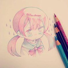 Kawaii Drawings, Colorful Drawings, Cute Drawings, Kawaii Art, Kawaii Anime, Pretty Art, Cute Art, Anime Sketch, Manga Drawing