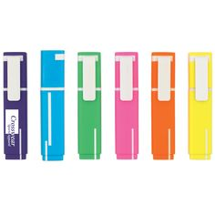 How cute are these? These highlighters can be customized for a fun advertising tool for your company. They come in fabulous colors that will make your logo pop!