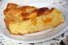 Пирог с персиками в нежной заливке