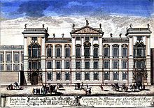 The Palace was first designed by the imperial court architect Johann Bernhard Fischer von Erlach, from Vienna. It was built in 1714-18 by the Italian architect Domenico Canevale. During the rest of the 18th century, Jewish balls and concerts were held in the Palace, and were attended by noteworthy artists including Mozart and Beethoven.