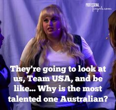 Pitch Quote by Fat Amy. I wouldn't call this an INSPIRING QUOTE, but I thought this was funny when Fat Amy said this in Pitch Perfect Pitch Perfect 1, Pitch Perfect Quotes, Tv Quotes, Movie Quotes, Funny Quotes, Fat Amy Quotes, Funny Humor, Funny Stuff, Rock Roll