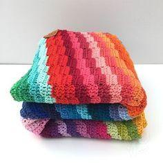 Gratis haakpatroon! Gratis haakpatroon gehaakte deken, door >> Jellina's Creations!