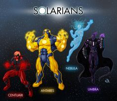 Solarians by RedHeretic Superhero Characters, Comic Book Characters, Comic Character, Character Concept, Character Reference, Character Design, Superhero Design, Best Superhero, League Of Heroes
