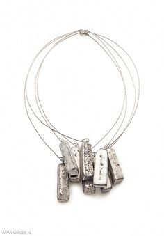 Iris Bodemer - X irritant, 2013 - necklace, antimony, steel - 170 x 290 x 30 mm