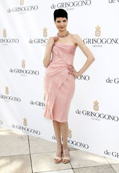 Tunisian model Hanaa Ben Abdessalem , one of the newest Lancôme spokemodels, was on the guest list for the De Grisogono photocall.