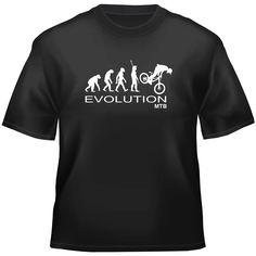 Mountain bikes, Downhill mtb ' Evolution MTB ' Size S-XXL t-shirt Downhill Bike, Bike Style, Mountain Biking, Evolution, Casual, Ideas Geniales, Mens Tops, T Shirt, Women's Fashion