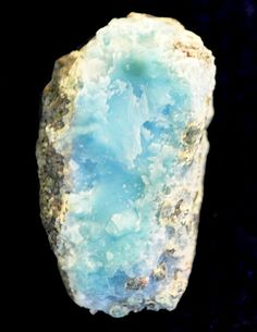 Blue Pectolite var. Larimar from Filipinas Mine, Los Checheses, Dominican Republic