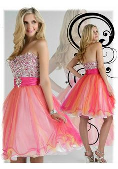 A-line Strapless Sleeveless Short/Mini Tulle Homecoming Dresses/Short Prom Dress #WX082