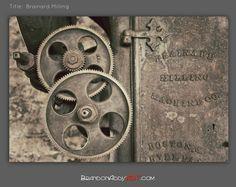 Rusty Gear Photograph Milling Factory Machinery by BrandonAddisArt, $28.00
