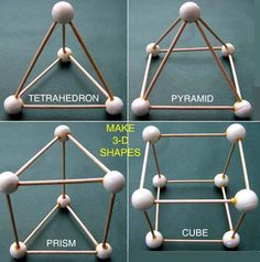 Have children make 3-D shapes out of model magic and toothpicks
