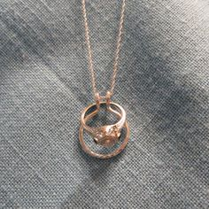 ring holder necklace pink rose gold fill wedding by jjdljewelryart reallyyy want one of these - Wedding Ring Necklace Holder