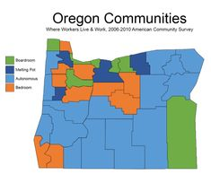 Oregon Political Geography: Putting some things together, excellent data by a pro-Democrat on economy and party affiliation.