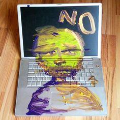 His Mac broke down. So he painted it.