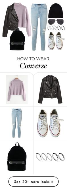 """Sin título #14466"" by vany-alvarado on Polyvore featuring J Brand, H&M, Converse, Yves Saint Laurent and ASOS"
