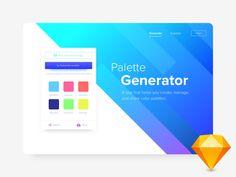 Palette Generator Freebie on UI Space