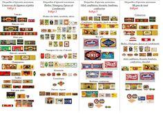 Imprimables étiquettes anciennes d'épicerie Vintage grocery labels for miniatures 1/12 - creation VM
