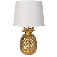 Target - Pillowfort - gold pineapple lamp --- yes please!
